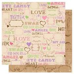 Bo Bunny - Smoochable Collection - 12 x 12 Double Sided Paper - Love Spell