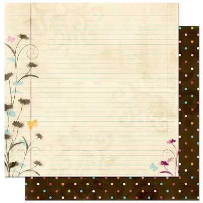 Bo Bunny Press - Sophie Collection - 12 x 12 Double Sided Paper - Sophie's Notebook