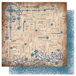 Bo Bunny Press - Snowfall Collection - 12 x 12 Double Sided Paper - Words
