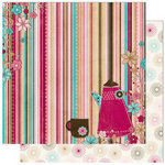 Bo Bunny - Sweet Tooth Collection - 12 x 12 Double Sided Paper - Stripe