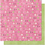 Bo Bunny Press - Sweetie Pie Collection - 12 x 12 Double Sided Paper - Sweetie Pie Smooch, CLEARANCE