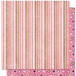Bo Bunny Press - Sweetie Pie Collection - 12 x 12 Double Sided Paper - Sweetie Pie Snuggle, CLEARANCE