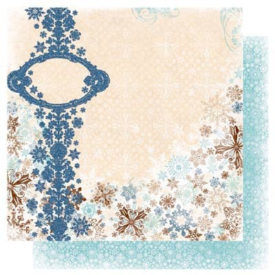 Bo Bunny - Snowfall Collection - 12 x 12 Double Sided Paper - Drift