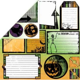 Bo Bunny Press - Spooktastic Collection - 12 x 12 Double Sided Paper - Spooktastic Cut Outs