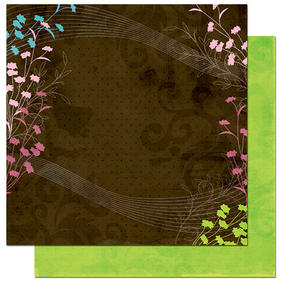 Bo Bunny Press - Sophie Collection - 12 x 12 Double Sided Paper - Sophie Wildflowers, CLEARANCE