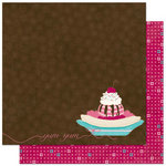 Bo Bunny - Sweet Tooth Collection - 12 x 12 Double Sided Paper - Yum
