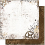 Bo Bunny - Timepiece Collection - 12 x 12 Double Sided Paper - Gears