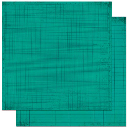 Bo Bunny Press - Double Dot Designs Collection - 12 x 12 Double Sided Paper - Journal - Turquoise