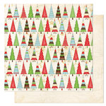 Bo Bunny Press - Tis The Season Collection - Christmas - 12 x 12 Double Sided Paper - Tis The Season Deck The Halls