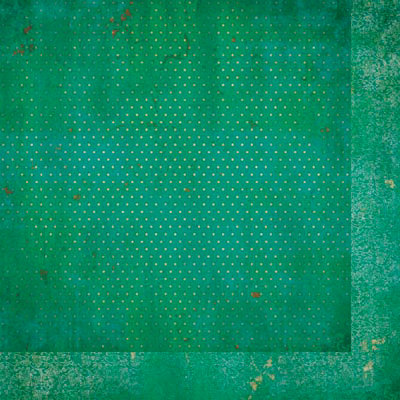 Bo Bunny - Double Dot Designs Collection - 12 x 12 Double Sided Paper - Vintage - Turquoise