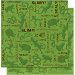 Bo Bunny Press - U Bug Me Collection - 12 x 12 Double Sided Paper - U Bug Me Slimy, CLEARANCE