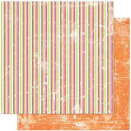 Bo Bunny Press - Vicki B Collection - 12 x 12 Double Sided Paper - Stripe
