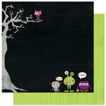 Bo Bunny Press - Whoo-ligans Collection - Halloween - 12 x 12 Double Sided Paper - Whoo-ligans