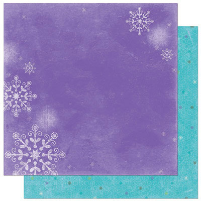 Bo Bunny Press - Winter Joy Collection - Christmas - 12 x 12 Double Sided Paper - Winter Joy Frosty