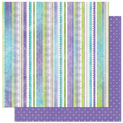 Bo Bunny Press - Winter Joy Collection - Christmas - 12 x 12 Double Sided Paper - Winter Joy Stripe