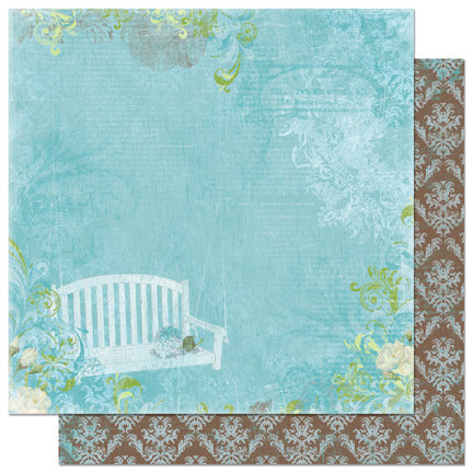 Bo Bunny Press - Welcome Home Collection - 12 x 12 Double Sided Paper - Porch Swing