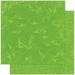 Bo Bunny Press - Double Dot Designs Collection - 12 x 12 Double Sided Paper - Flourish - Wasabi