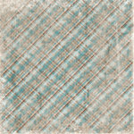 Bo Bunny Press - Winter Whisper Collection - 12 x 12 Paper - Winter Whisper Plaid, CLEARANCE