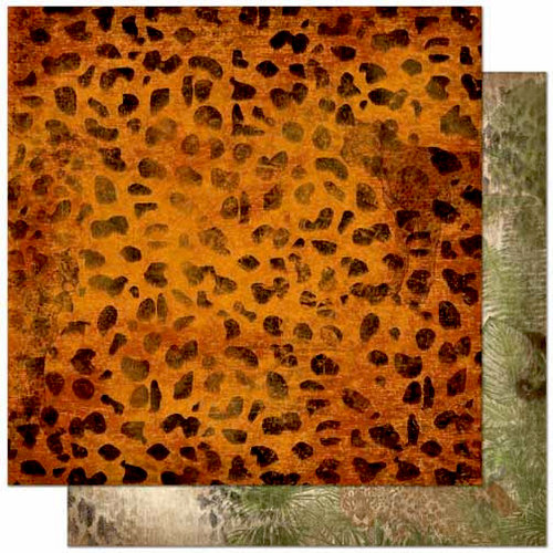 Bo Bunny - Zoology Collection - 12 x 12 Double Sided Paper - Cheetah