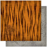 Bo Bunny - Zoology Collection - 12 x 12 Double Sided Paper - Tiger