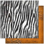 Bo Bunny - Zoology Collection - 12 x 12 Double Sided Paper - Zebra