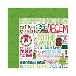 Bo Bunny - Mistletoe Collection - Christmas - 12 x 12 Double Sided Paper - Greetings
