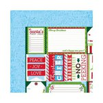 Bo Bunny - Mistletoe Collection - Christmas - 12 x 12 Double Sided Paper - Santa's List
