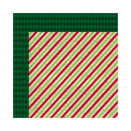 Bo Bunny - Mistletoe Collection - Christmas - 12 x 12 Double Sided Paper - Twas The Night