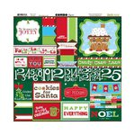 Bo Bunny - Mistletoe Collection - Christmas - 12 x 12 Cardstock Stickers - Combo