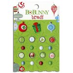 Bo Bunny - Mistletoe Collection - Christmas - Brads
