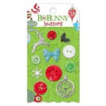 Bo Bunny - Mistletoe Collection - Christmas - Buttons