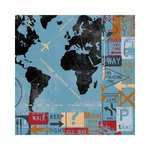 Bo Bunny - Detour Collection - 12 x 12 Double Sided Paper - Detour