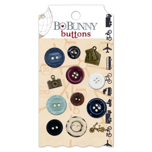 Bo Bunny - Detour Collection - Buttons