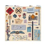 Bo Bunny - Detour Collection - 12 x 12 Chipboard Stickers