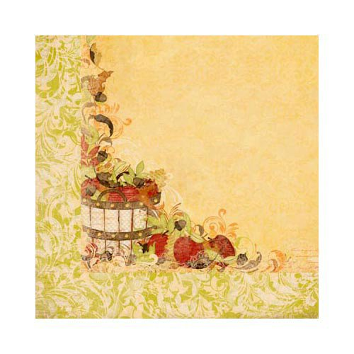 Bo Bunny - Apple Cider Collection - 12 x 12 Double Sided Paper - Apple Cider