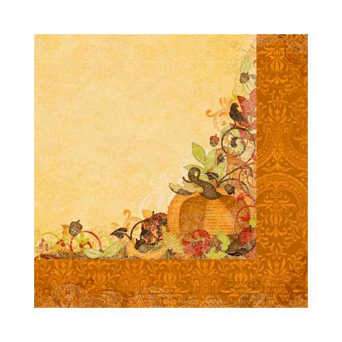Bo Bunny - Apple Cider Collection - 12 x 12 Double Sided Paper - Bounty
