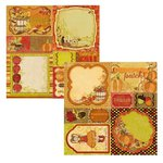 Bo Bunny - Apple Cider Collection - 12 x 12 Double Sided Paper - Cut Outs