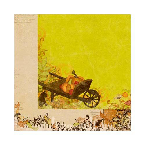 Bo Bunny - Apple Cider Collection - 12 x 12 Double Sided Paper - Harvest