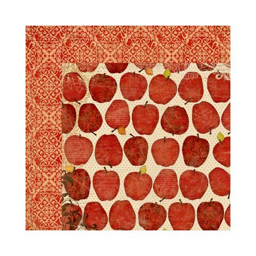 Bo Bunny - Apple Cider Collection - 12 x 12 Double Sided Paper - Orchard