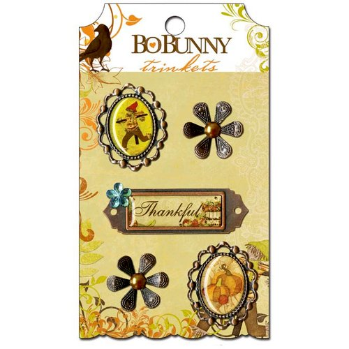 Bo Bunny - Apple Cider Collection - Metal Embellishments - Trinkets