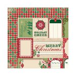 Bo Bunny - Rejoice Collection - Christmas - 12 x 12 Double Sided Paper - Cut Outs