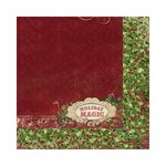 Bo Bunny - Rejoice Collection - Christmas - 12 x 12 Double Sided Paper - Holly