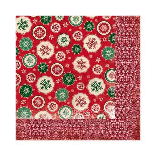 Bo Bunny Press - Rejoice Collection - Christmas - 12 x 12 Double Sided Paper - Snowfall