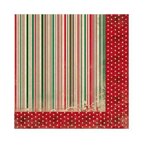 Bo Bunny - Rejoice Collection - Christmas - 12 x 12 Double Sided Paper - Stripe