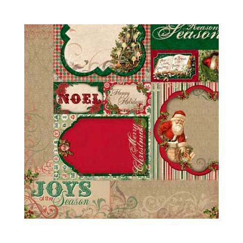 Bo Bunny - Rejoice Collection - Christmas - 12 x 12 Double Sided Paper - The Season