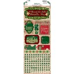 Bo Bunny Press - Rejoice Collection - Christmas - Cardstock Stickers - The First Noel