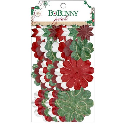 Bo Bunny - Rejoice Collection - Christmas - Flower Embellishments - Petals