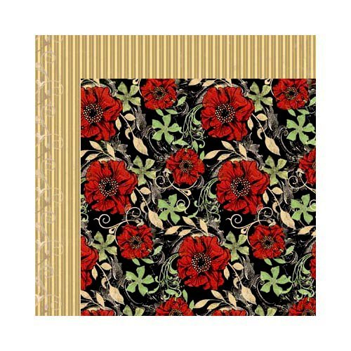 Bo Bunny - Serenade Collection - 12 x 12 Double Sided Paper - Garden