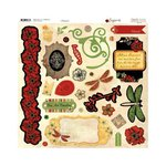 Bo Bunny - Serenade Collection - 12 x 12 Chipboard Stickers