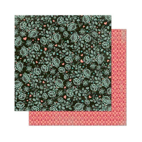 Bo Bunny - Love Letters Collection - 12 x 12 Double Sided Paper - Flowers